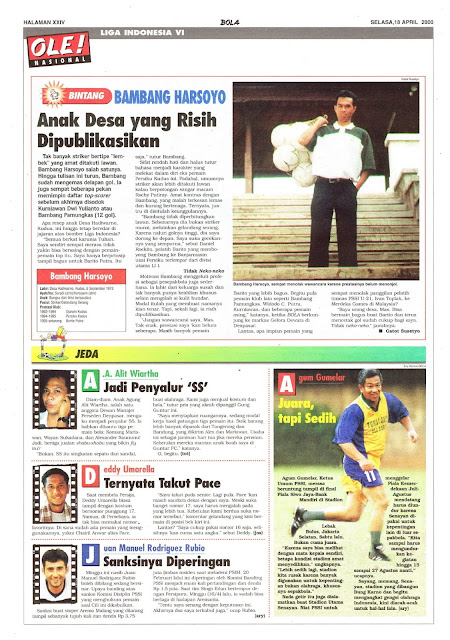 LIGA INDONESIA PROFIL BINTANG BAMBANG HARSOYO