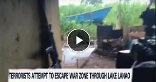 Watch: Ilang miyembro ng Maute Group, nagtangkang tumakas sa Lanao Lake! Patay ang 3 at isa sugatan!