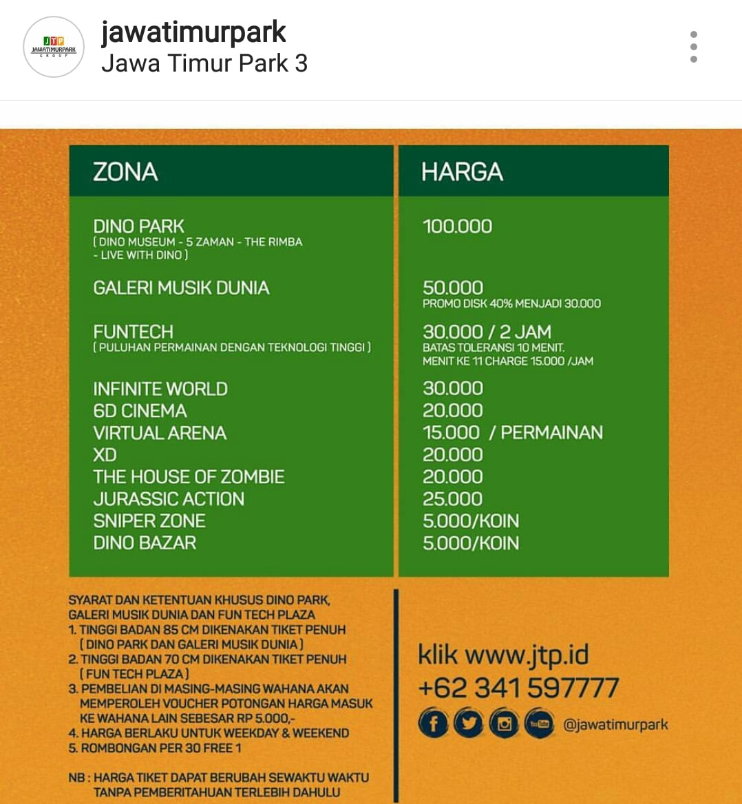 Wahana Jatim Park 3 Kota Batu Dan Harga Tiket Masuk Terbaru