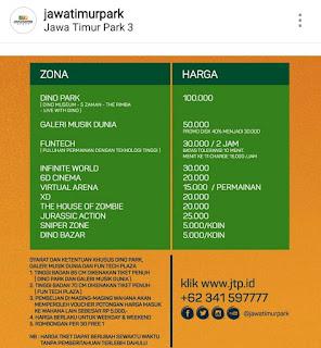 Harga Tiket Masuk Jatim Park 3 Terbaru Bromo kita Tour travel