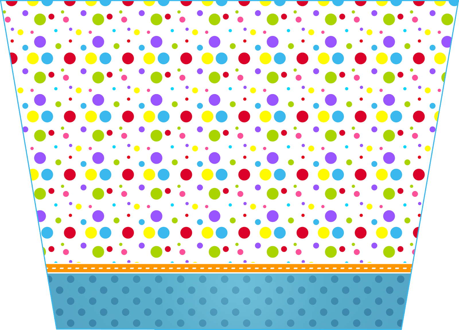 Sweet 16 Colored Dots Free Printable Candy Bar Labels