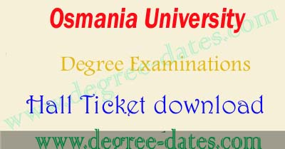 OU degree hall tickets 2018 download osmania university ug results