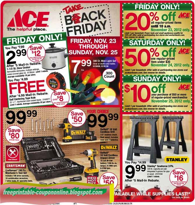 image regarding Ace Hardware Printable Coupons titled Ace components coupon codes printable 2018 : Ninja cafe nyc
