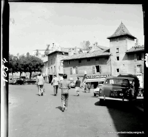 Aurillac, en  ancienne photo noir et blanc