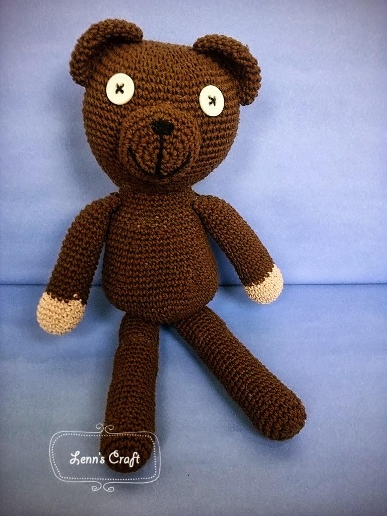 lenn 39 s craft handmade doll amigurumi mr bean teddy bear doll. Black Bedroom Furniture Sets. Home Design Ideas