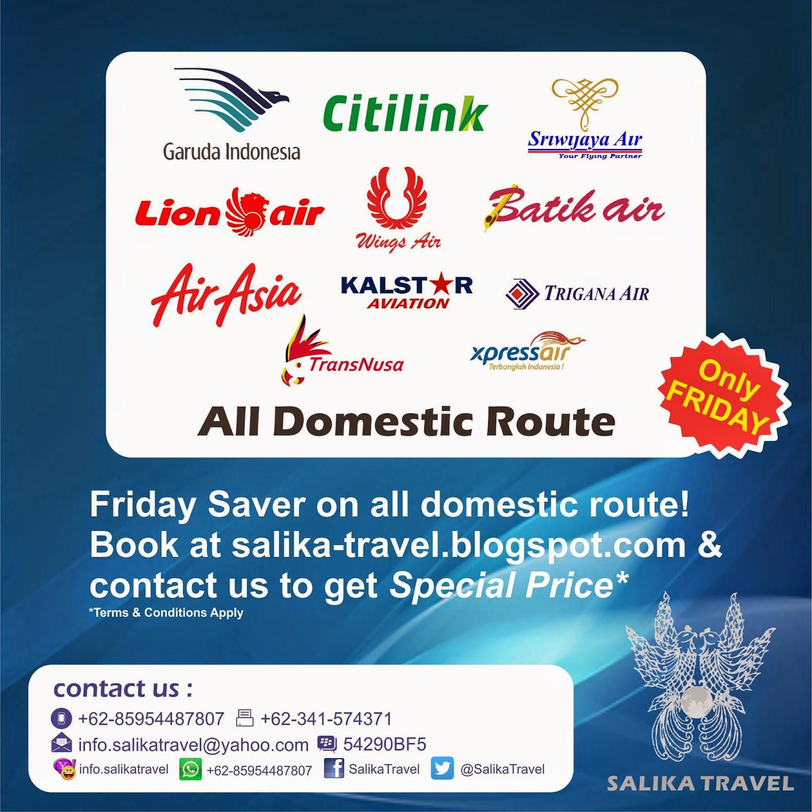 Friday Saver on All Domestic Flight - Salika Travel