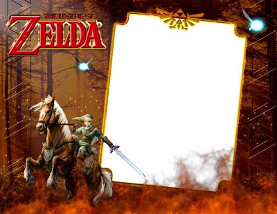Marco para fotos de el videojuego The Legend of Zelda con Link y Epona