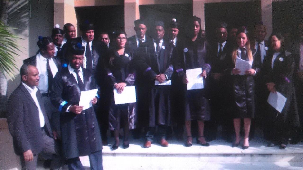 Jueces del departamento judicial de Barahona abogan por mas independencia judicial.