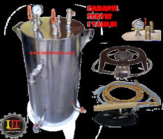 Setrika Uap Gas Boiler Indah Mesin
