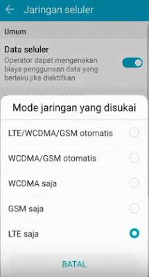 Lock Sinyal Jaringan 4G