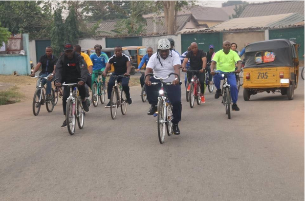 Abia-governor-rides-bicycle-through-the-streets-of-Umuahia-2