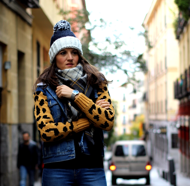 Denim+Animal Print