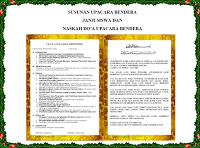 Download Susunan Upacara Bendera, Janji Siswa Dan Contoh Naskah Do'a