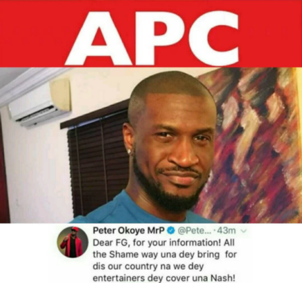APC Slams Peter Okoye For Calling Them Out