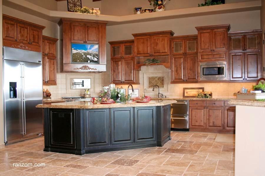 Cocina con muebles de roble diseño de alta calidad