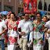 Rescatan la tradición del convite: cientos de personas acompañaron a Alpha Tavera en el recorrido