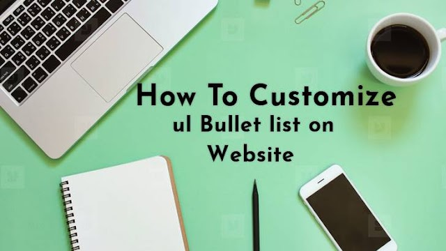How To Change UL List Style On Blog Website