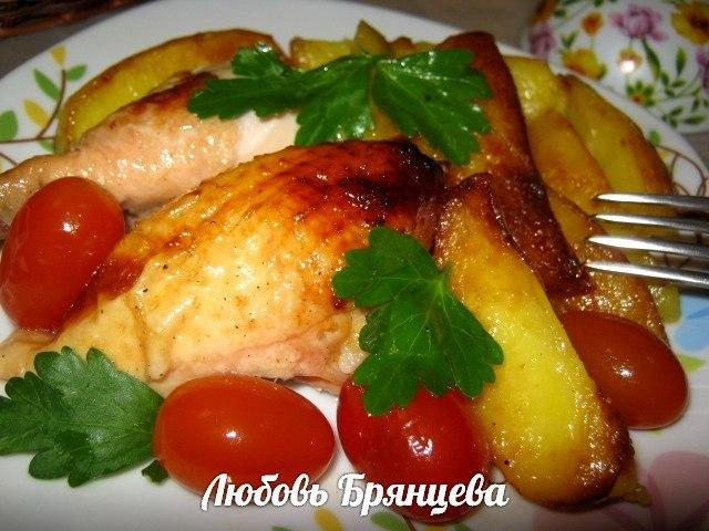 курица запеченная с медом и соевым соусом