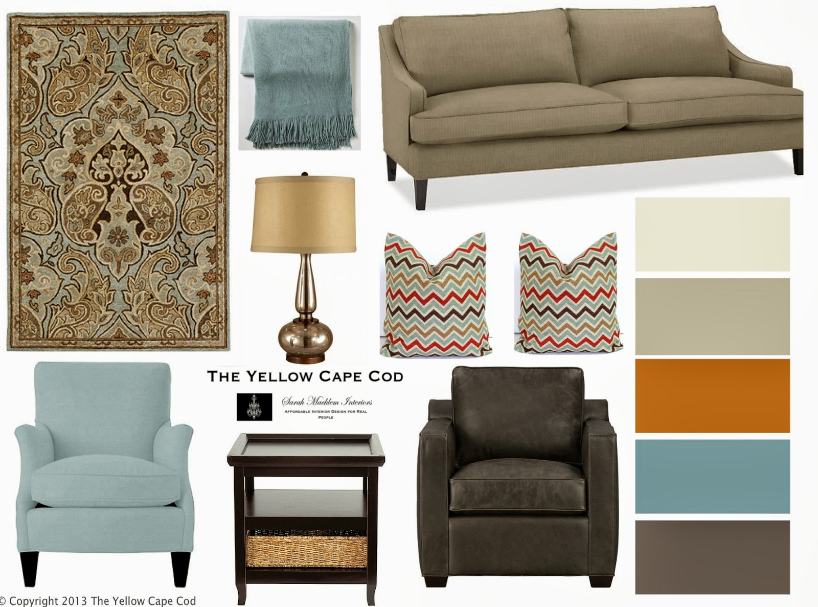 The Yellow Cape Cod: His and Her Chairs~How to mix ...