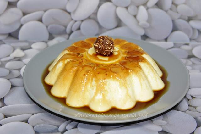 Flan De Chocolate Blanco