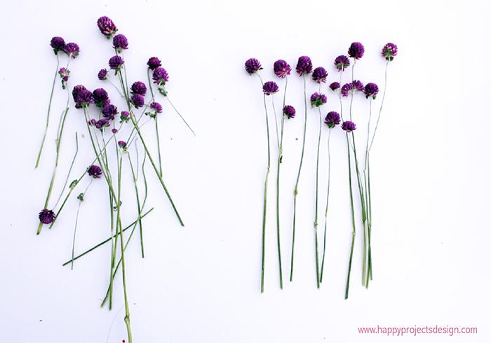 telar con flores secas