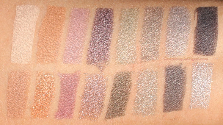 Lancome Auda[City] in London Eyeshadow Palette Swatches on olive skin