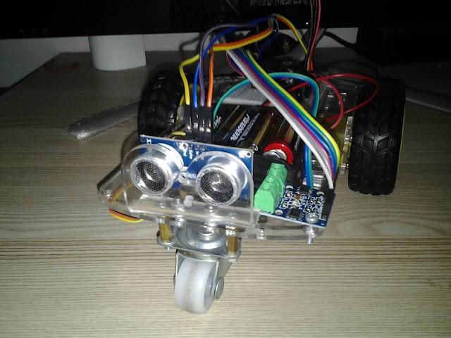 โปรเจค หุ่นยนต์หลบสิ่งกีดขวาง ESP8266 NodeMCU V2