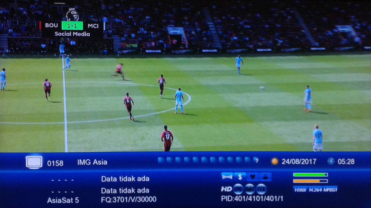 IMG Asia Asiasat 5 Tandberg di Receiver Auto Biss Key