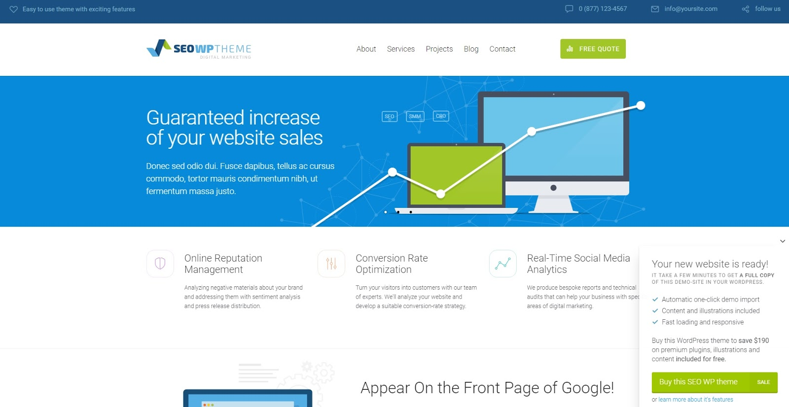 Download Free SEO WP v1.9.3 – Online Marketing, SEO, Social Media Agency