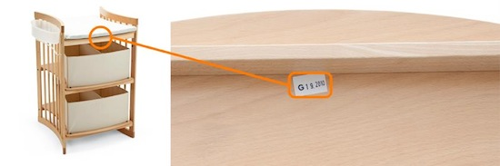 Stokke® Care serial number location