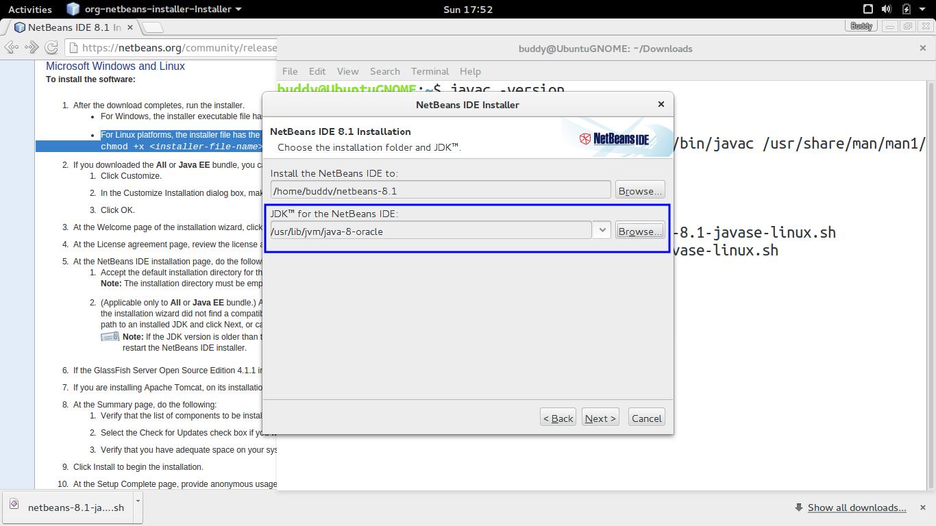 Java-Buddy: Install Netbeans 8 1 0n Ubuntu 15 10