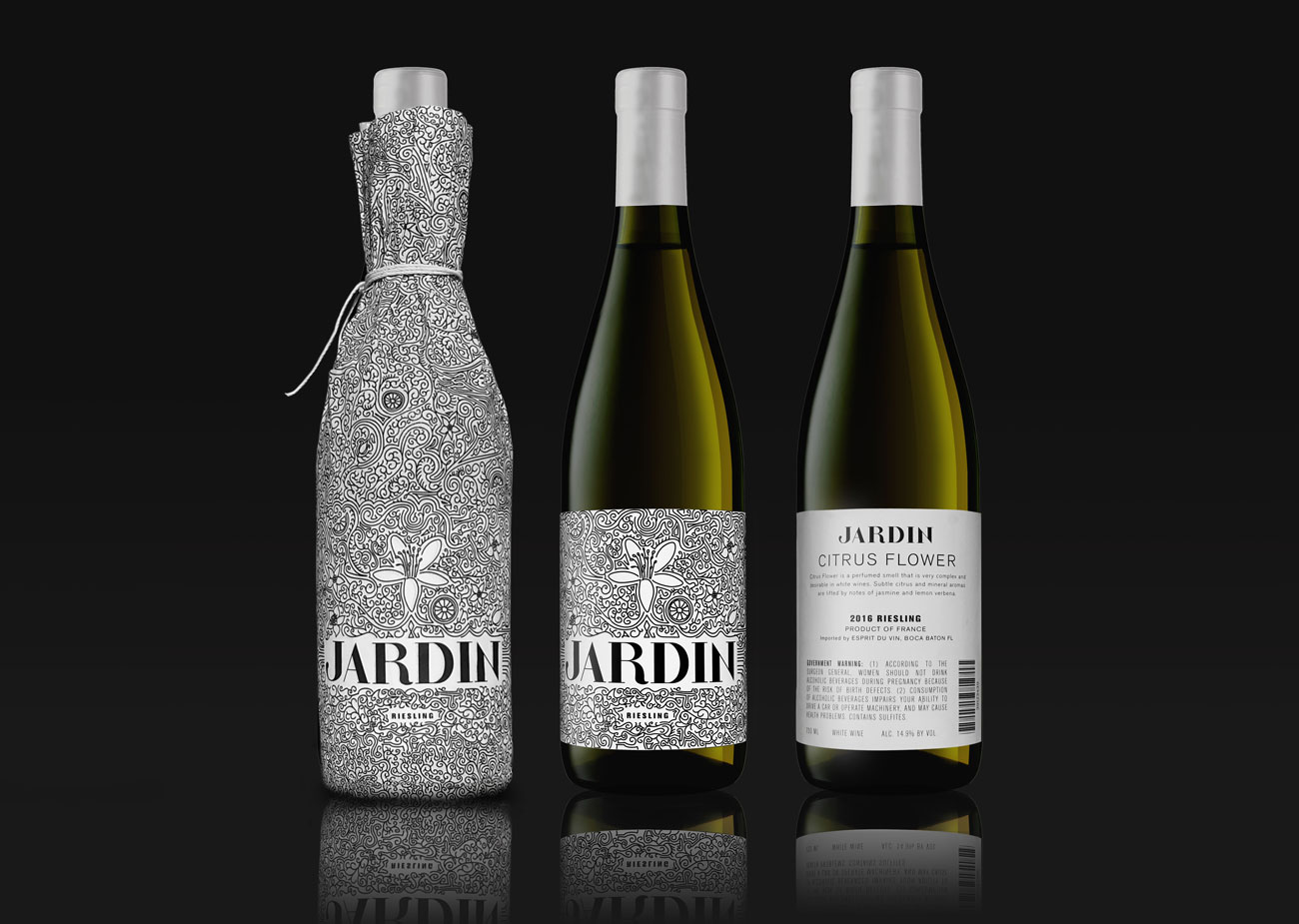 Jardin wine packaging concept on packaging of the world for Jardin winery