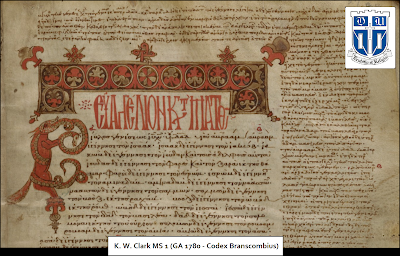 Greek Manuscripts in the K. W. Clark Collection (Duke University)