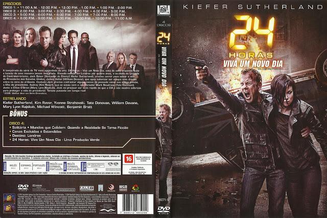 Capa DVD 24 Horas Viva Um Novo Dia