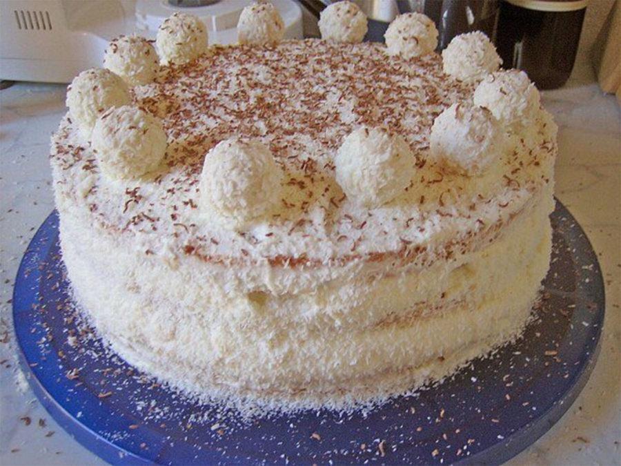 Торт рафаэлло фото-рецепт