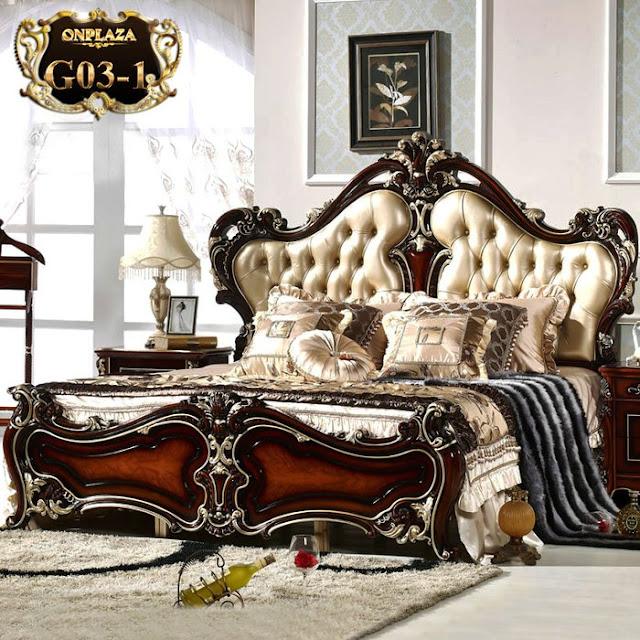 Giường ngủ gỗ phong cách tân cổ điển đẹp,sang trong,đẳng cấp