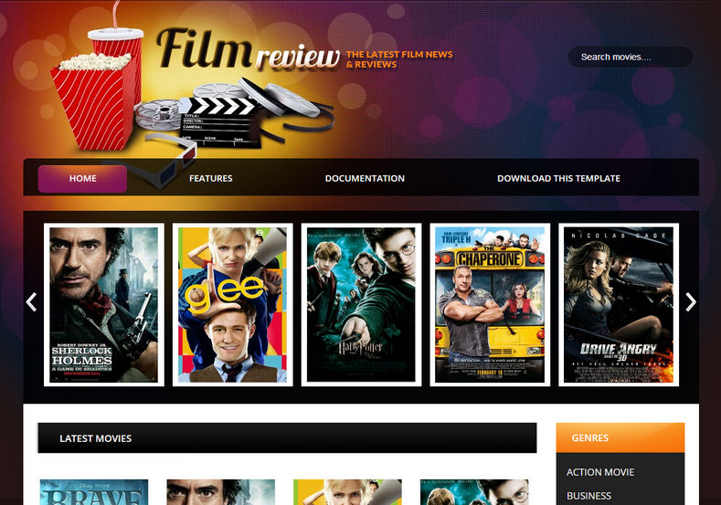 Film Reviews Blogger Template High Quality Free Blogger Templates