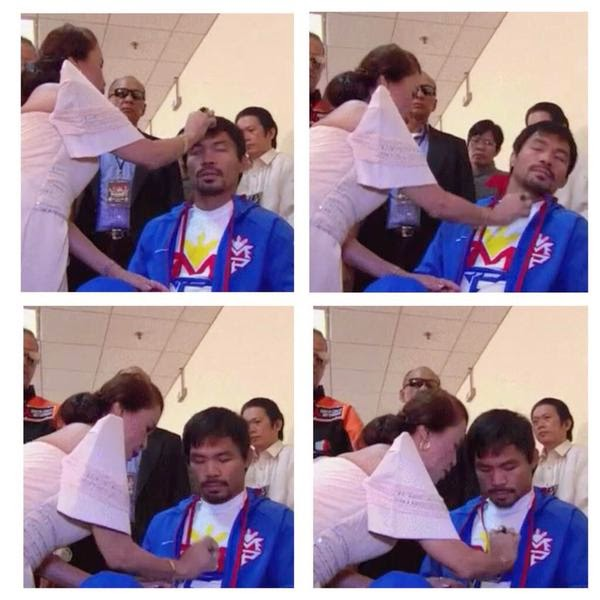 Mommy D does rituals for her son Manny Pacquiao