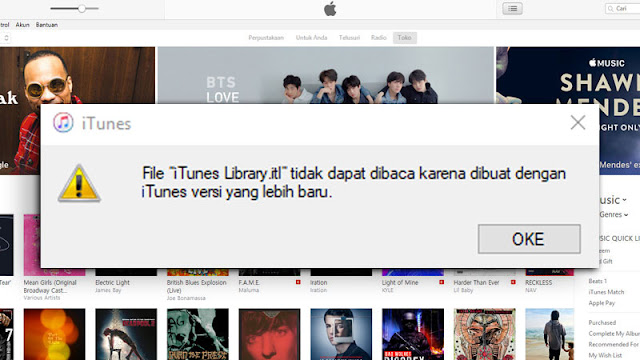 Erorr iTunes Library.itl Di Windows