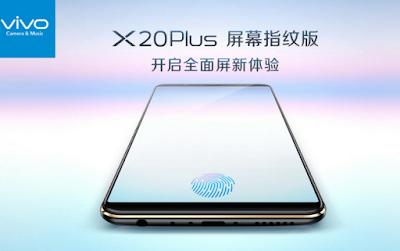 Smartphone Dengan Fingerprint Di Dalam Layar Vivo X20 Plus UD, Smartphone Dengan Fingerprint Di Dalam Layar