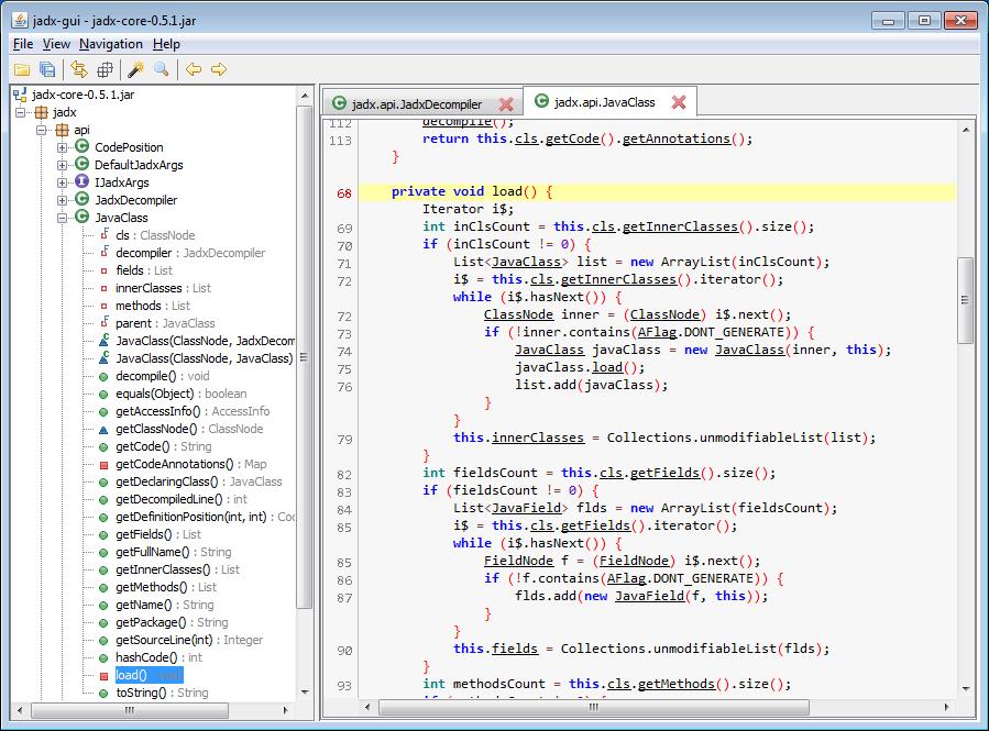 jadx - Dex to Java Decompiler