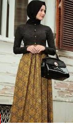Contoh model batik wanita