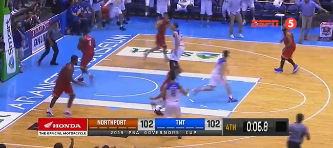 TNT def. NorthPort, 104-102 (REPLAY VIDEO) September 30