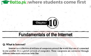 1st Year Computer Chapter 10 Long Questions pdf - ICS Part 1