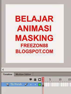 belajar animasi masking - adobe flash cs6