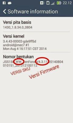 Cek Firmware Zenfone 4