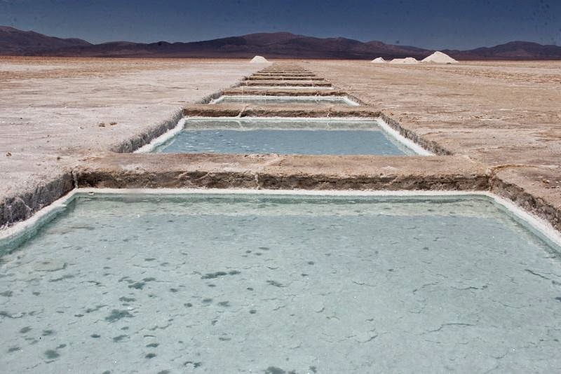 Salinas Grandes - one of the world's largest salt flats, located in central-northern Argentina.