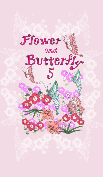 Flower and butterfly5