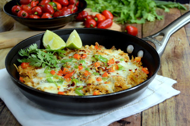 Mexican Rice | Baked Cheese & Mince Mexican Rice