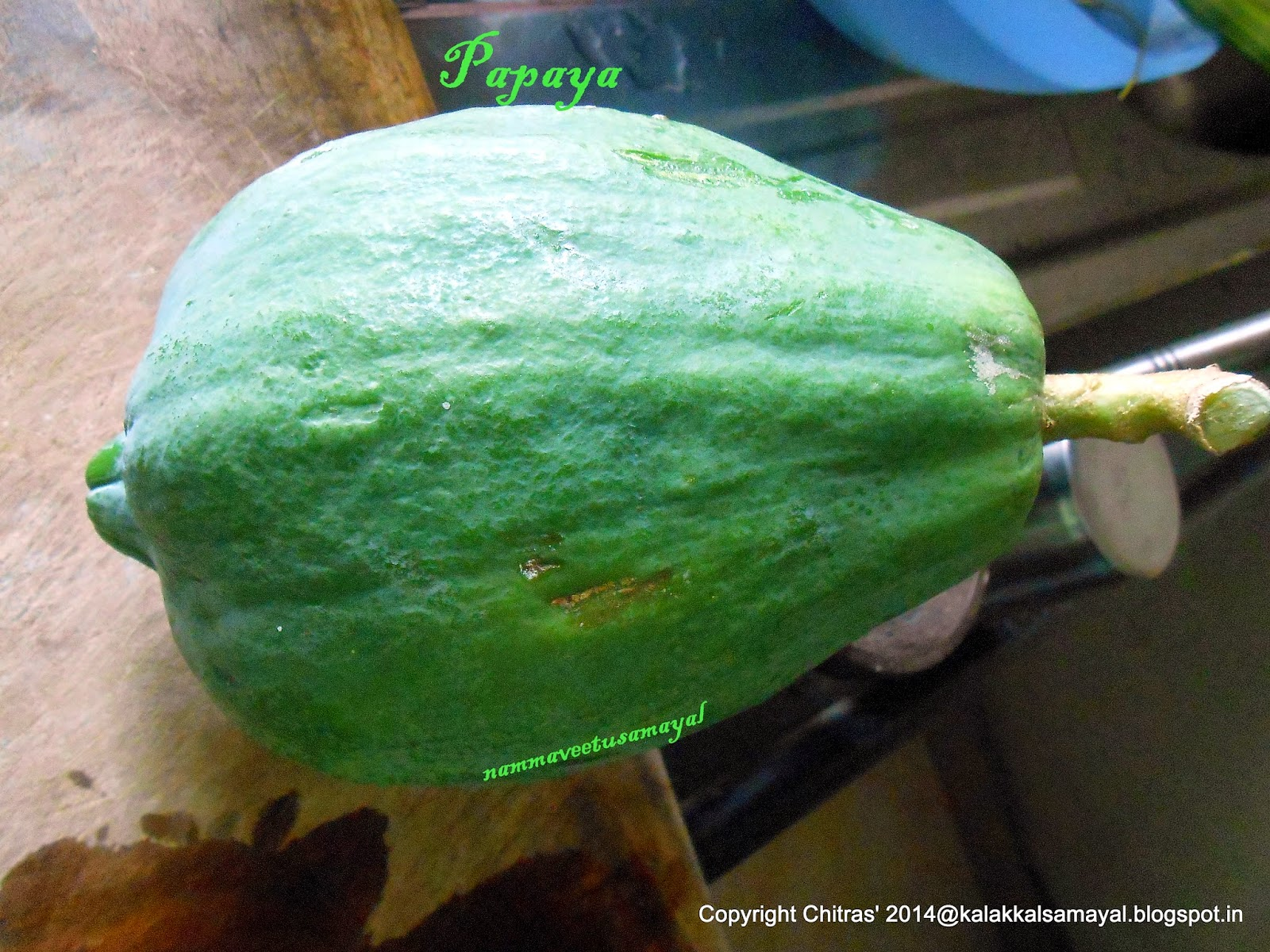 Papali kaai [ Raw papaya or unripe papaya ]